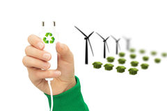 Eco power wind turbine Stock Photography