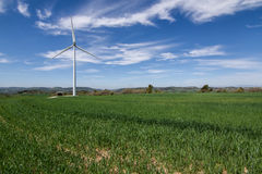 Eco power, wind turbines Stock Photos