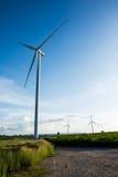 Eco power, wind turbines Royalty Free Stock Photography