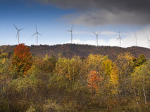 Eco power, wind turbines Royalty Free Stock Images