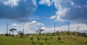 Eco power, wind turbines Stock Images
