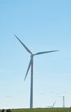 Eco power wind turbines for renewable energy source Stock Images