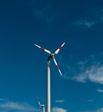 Eco power, wind turbines. In thailand Stock Photos