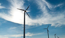 Eco power wind turbines. In thailand Royalty Free Stock Photo