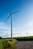 Eco power, wind turbines Royalty Free Stock Image