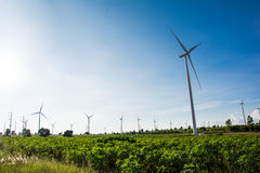 Eco power, wind turbines Stock Images