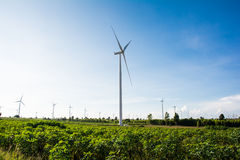 Eco power, wind turbines Stock Photography
