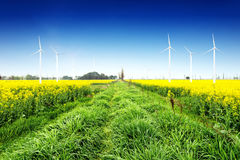 Eco power, wind turbines Stock Image