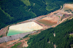 Eco-Problem-Bergwerkabfall Stockbild