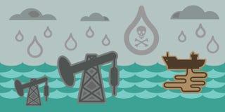 Eco problems sea horizontal Stock Photos