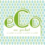 Eco product blue green leaves Royalty Free Stock Photography