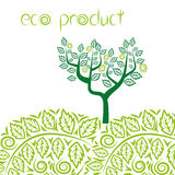 Eco product concept background. Green abstract tree. Royalty Free Stock Photo