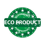 Eco product grunge rubber stamp Stock Image