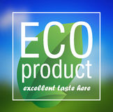 Eco Product poster abstract vector background Stock Photos