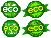 Eco Product Seals Stock Photography