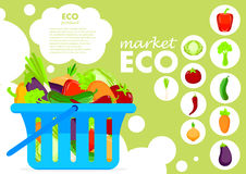 Eco products poster vector illustration. Stock Photo