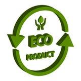 Eco produkt isometrisk 3D som isoleras på vit bakgrund royaltyfri fotografi