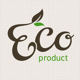 Eco produktbokstäver Royaltyfria Bilder