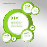 Eco projekta elementy infographic. Obrazy Stock