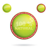 Eco promo sticker. 100 percent web push button icon.Eco promo sticker Royalty Free Stock Photos