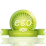 Eco Promoaufkleber Stockbild