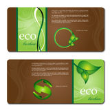 Eco promotion brochure Stock Photo