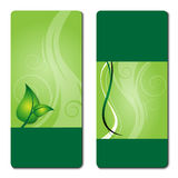 Eco promotion brochure. With diverse logo green elements Royalty Free Stock Photography