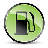 Eco pump icon. In green tones Royalty Free Stock Image