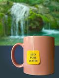 Eco pure water. And waterfall Royalty Free Stock Photos