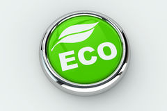 Eco push button Stock Photo