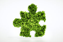 Eco puzzle sign Stock Photography