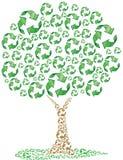 Eco que recicla el árbol Imagen de archivo