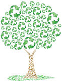 Eco réutilisant l'arbre Image stock