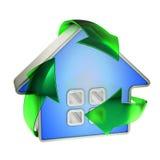 Eco réutilisent la maison Image stock