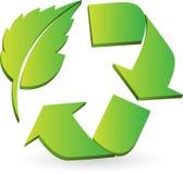 Eco réutilisent le logo Photographie stock libre de droits