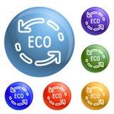 Eco réutilisent le vecteur d'ensemble d'icônes de flèche illustration stock