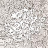 Eco ręki literowanie i doodles elementów tło Zdjęcia Stock
