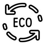 Eco recicla el icono de la flecha, estilo del esquema stock de ilustración