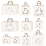 Eco recycle bag collection Stock Images