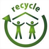 Eco_recycle Haus Lizenzfreies Stockbild