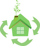 Eco recycle house Stock Photos