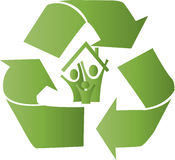 Eco recycle house Royalty Free Stock Photography