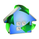 Eco recycle house Stock Image