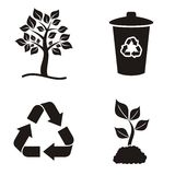Eco and recycle icons Royalty Free Stock Image
