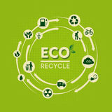 Eco recycle label Royalty Free Stock Photo