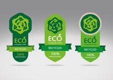 Eco recycle label set royalty free illustration