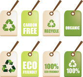 Eco recycle labels Royalty Free Stock Image