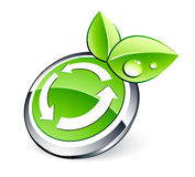 Eco recycling button Stock Photos