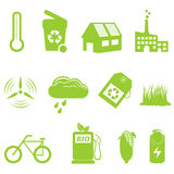 Eco and recycling icon set royalty free illustration