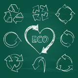 Eco recycling icons set collections. Stock Photo